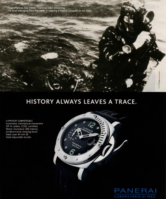 History always leaves a trace - Advertentie Panerai