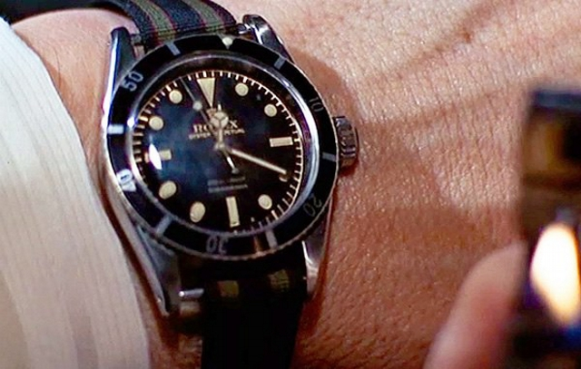 James Bond 007 Submariner zoals gedragen door Sean Connery in de film Goldfinger
