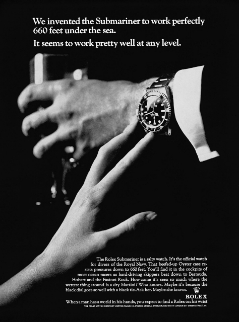 Rolex advertentie voor de Submariner